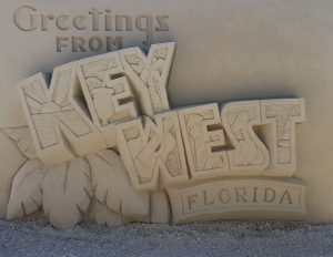 Greetings from Key West sand sculpture